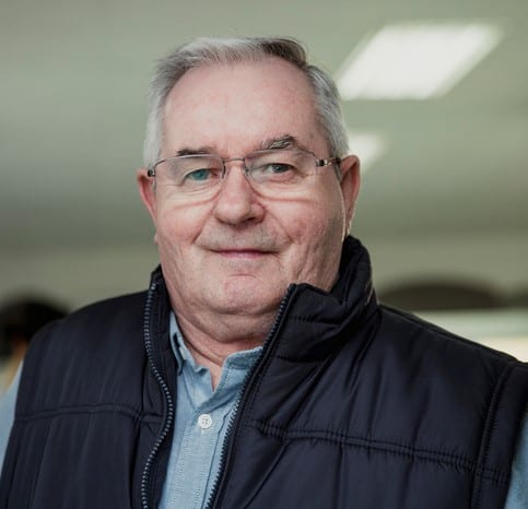 Portrait of a senior man wearing a gilet.